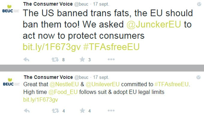 Grasas trans en Europa