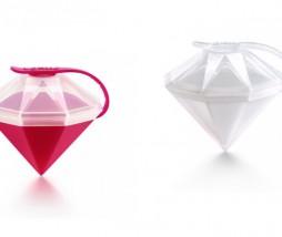 Hielo con forma de diamante