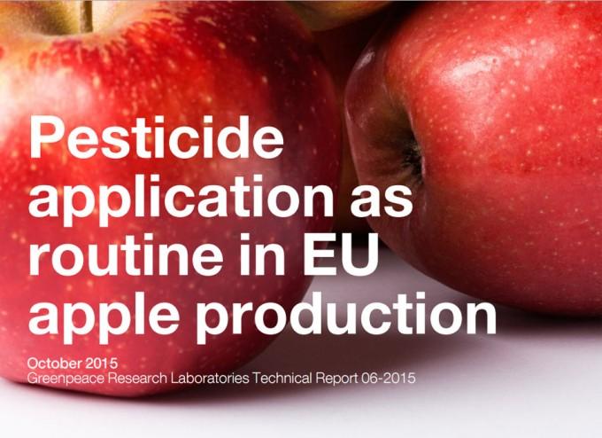 Pesticidas en las manzanas