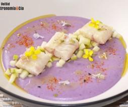 Puré de patata violeta