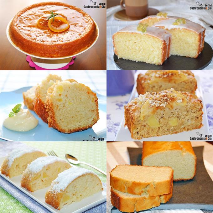 12 recetas de bizcocho sin mantequilla