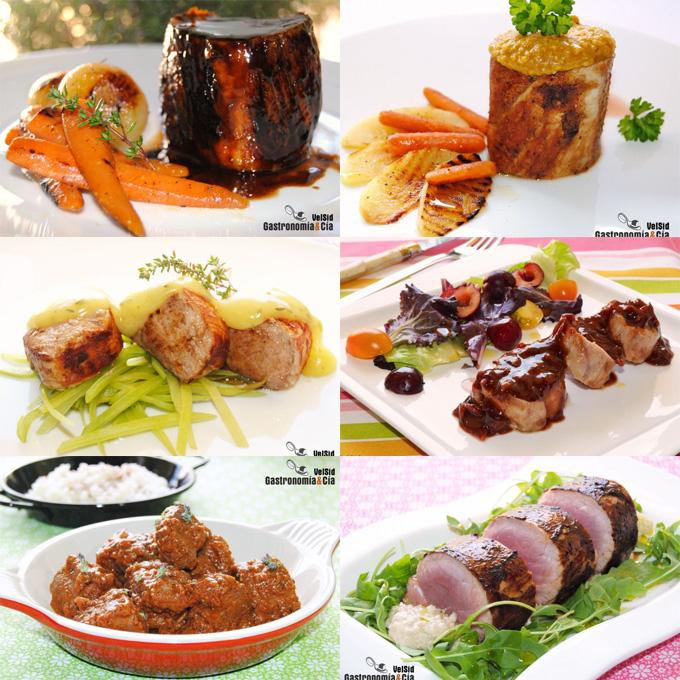 Doce nuevas recetas con solomillo de cerdo