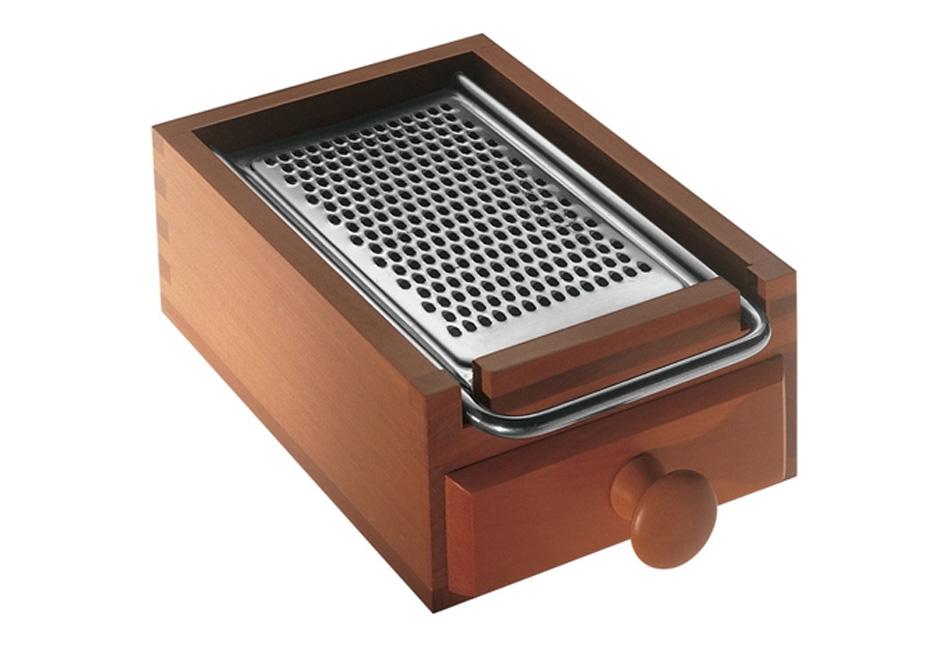 Rallador de madera con cajón de Alessi