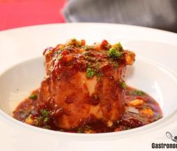 Receta de solomillo con salsa de pimientos confitados