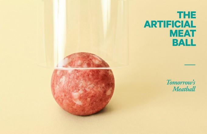 Albóndigas con carne in vitro
