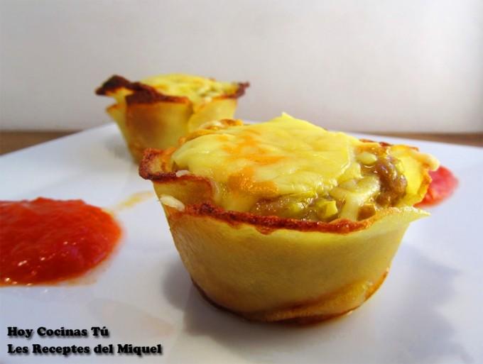 Hoy Cocinas Tú: Cestas de patata rellenas de carne al curry