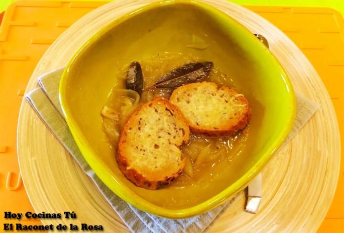 Hoy Cocinas Tú: Sopa de cebolla al Oporto