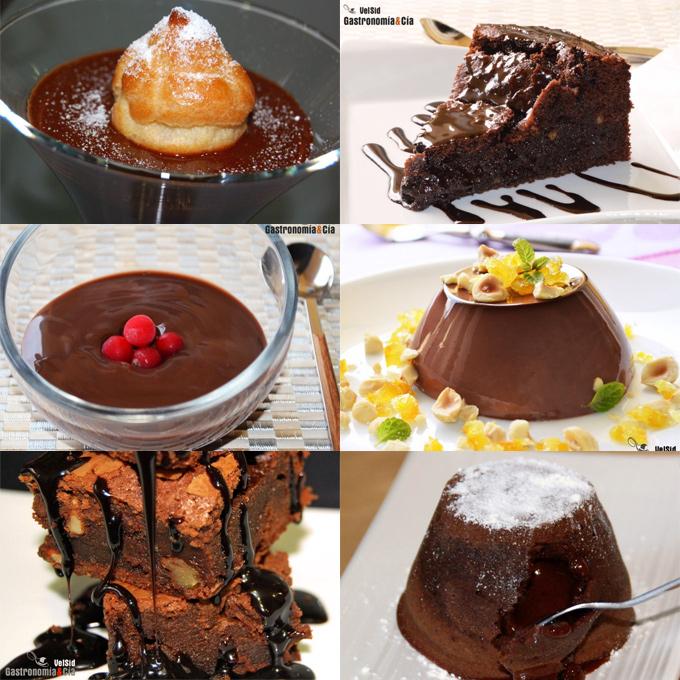 Doce postres de chocolate para San Valentín