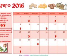 Calendario Legumbres 2016