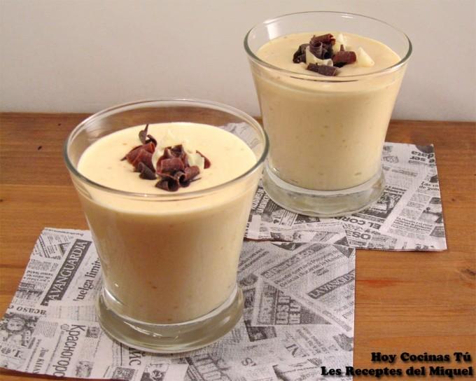 Hoy Cocinas Tú: Vasito de Jijona y queso mascarpone con chocolate blanco