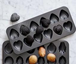 Molde para madeleines con forma de corazón