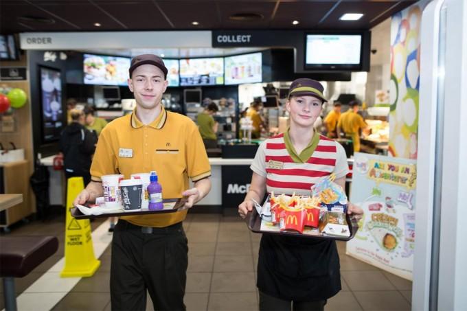 Nuevo servicio de mesa de McDonald