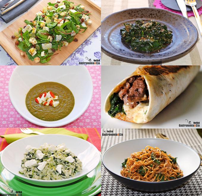 recetas faciles con espinacas frescas