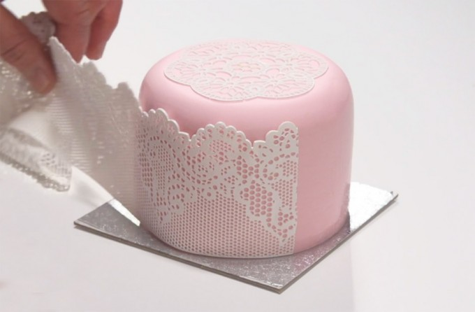 Encaje de azúcar flexible