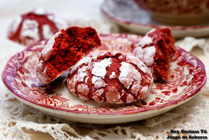 Hoy Cocinas Tú: Galletas craqueladas red velvet
