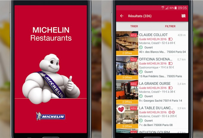 Guía Michelin digital de Francia