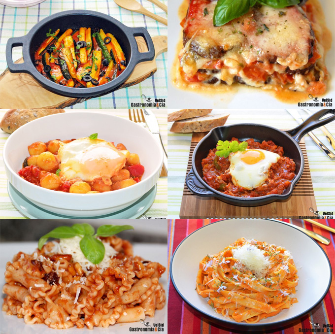 Doce recetas con salsa de tomate