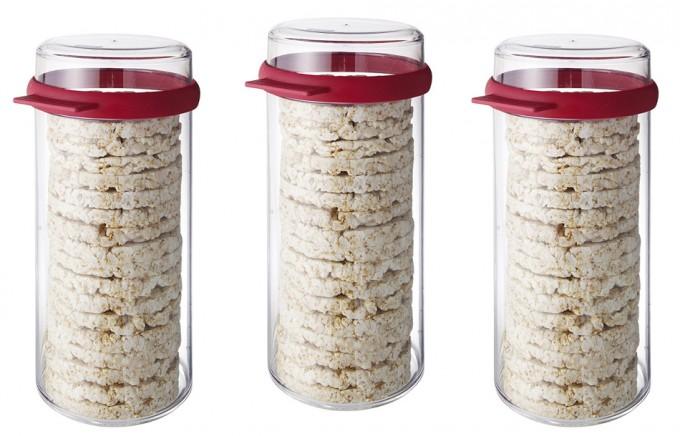 Recipiente para galletas de arroz