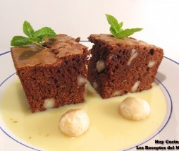 Brownie con nueces de macadamia