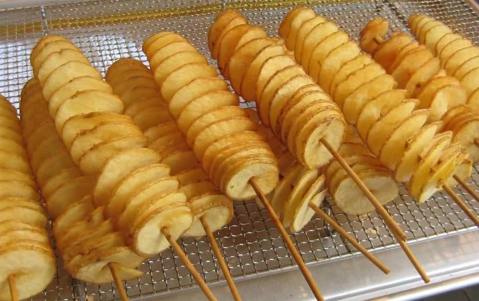 Cómo hacer patatas en espiral