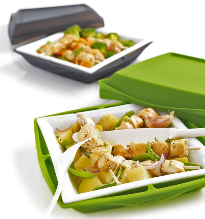 Plato de porcelana y silicona para cocinar en el for Platos faciles para cocinar