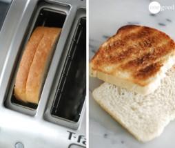 Tostar pan de molde