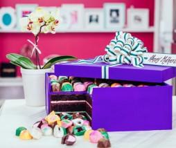 Pastel caja de bombones