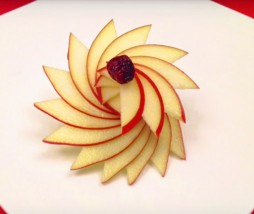 Decorar con una manzana