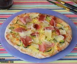 Pizza de espaguetis de calabacín