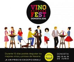Fiesta del vino navarro en San Sebastián