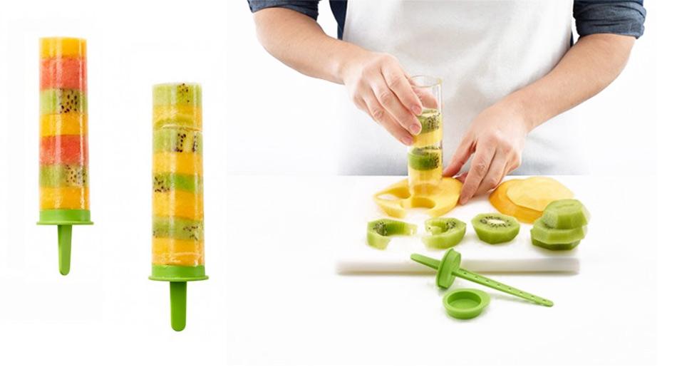 Moldes para helados de fruta natural