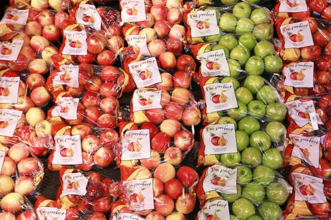 manzanas imperfectas en Wal-Mart