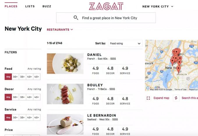 Guía Zagat