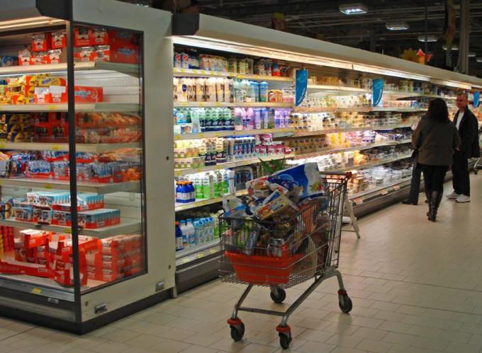 Alimentos que se comercializan en un supermercado