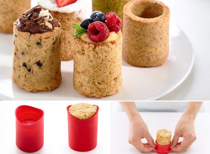 Moldes para hacer vasitos de galleta