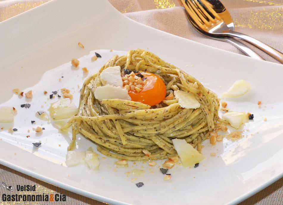 Tagliolini De Trufa Negra Con Yema Escalfada Gastronomía Cía