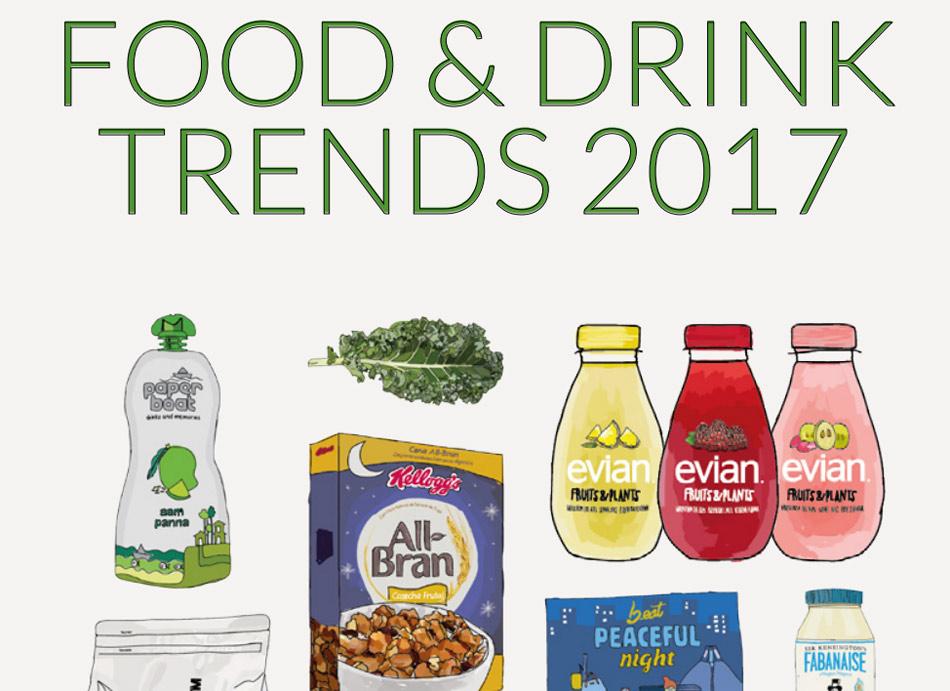 Tendencias globales del sector de la alimentación y las bebidas para el año 2017
