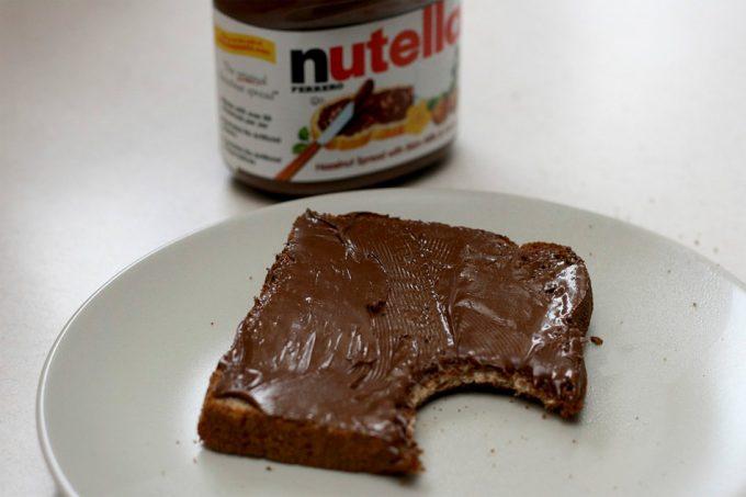 ración recomendada de Nutella