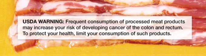 Riesgo de cáncer por el consumo de carne procesada