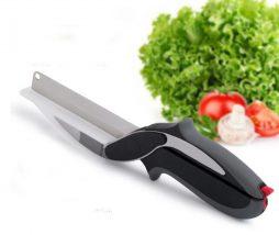 Cuchillo y tabla de cortar