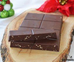 Receta de turrón de chocolate y cacahuete
