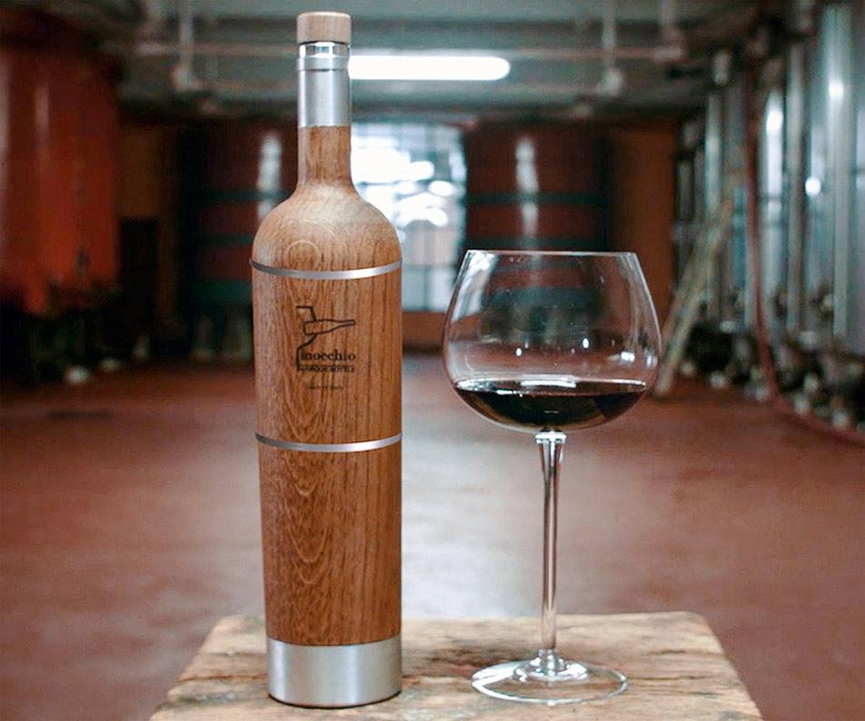 Botellas de madera para mejorar las bebidas alcohólicas