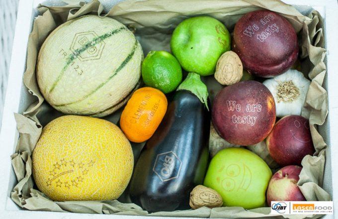 Láser para grabar las frutas y verduras
