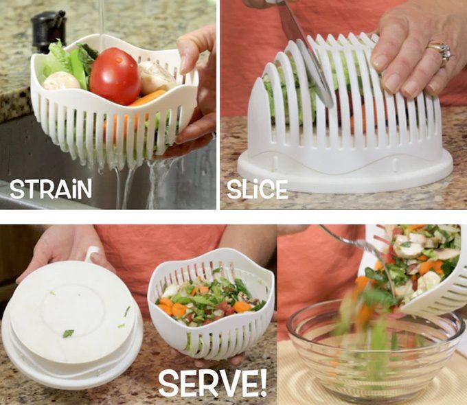 Lavar y cortar ensaladas