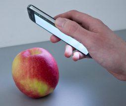 Analizar los alimentos con un teléfono móvil