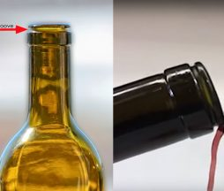 Botella de vino antigoteo