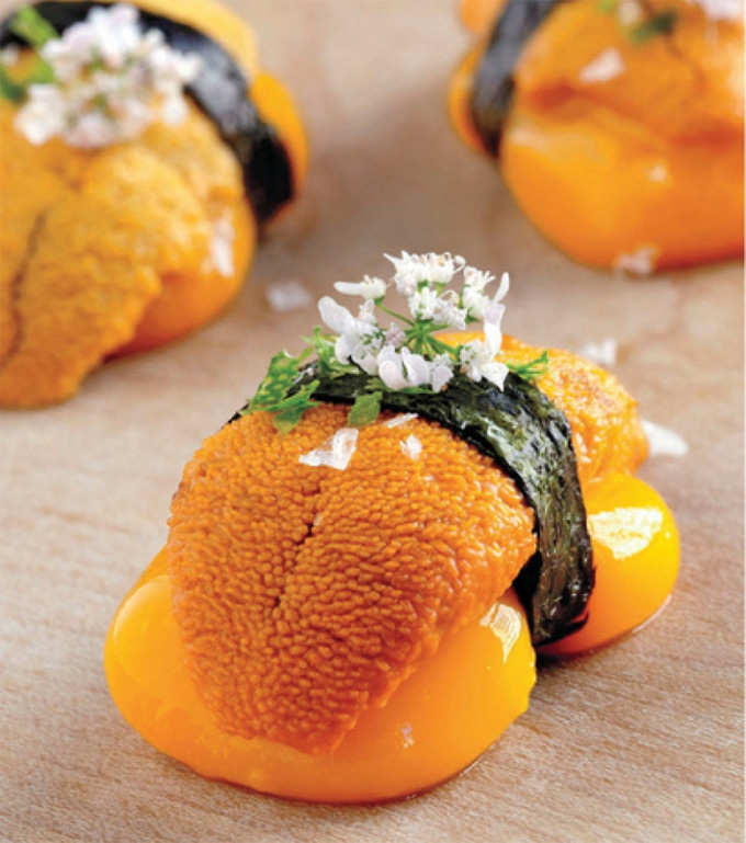 Nigiri l quido de mango y erizo de mar de jose andr s for Bazar del cocinero