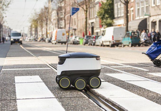 Robot repartidor de pizza
