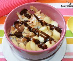 Porridge con paraguayo y coco