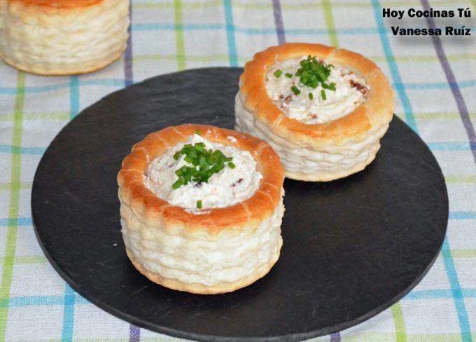 Hoy Cocinas Tú Vol Au Vent Relleno De Requesón Y Tomate Seco Gastronomía Cía